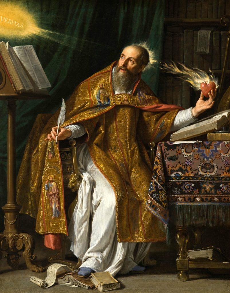 Augustinus afbeelding van Philippe de Champaigne