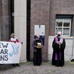 Protest tegen kernwapens op Aswoensdag 2021