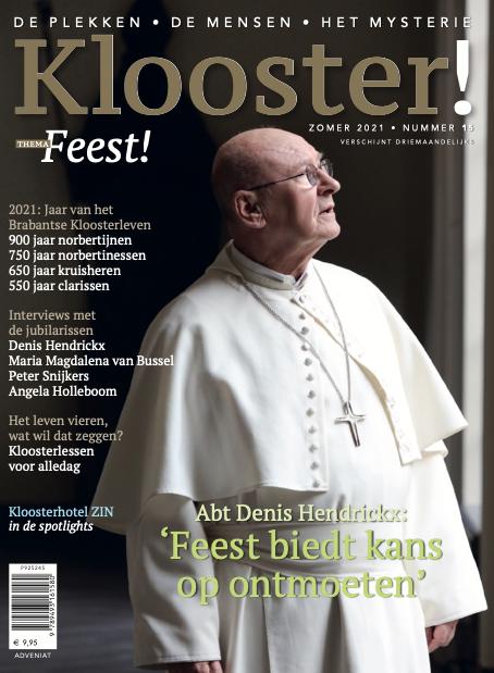 Denis Hendrickx op de cover van het speciale nummer van Klooster! over Feest